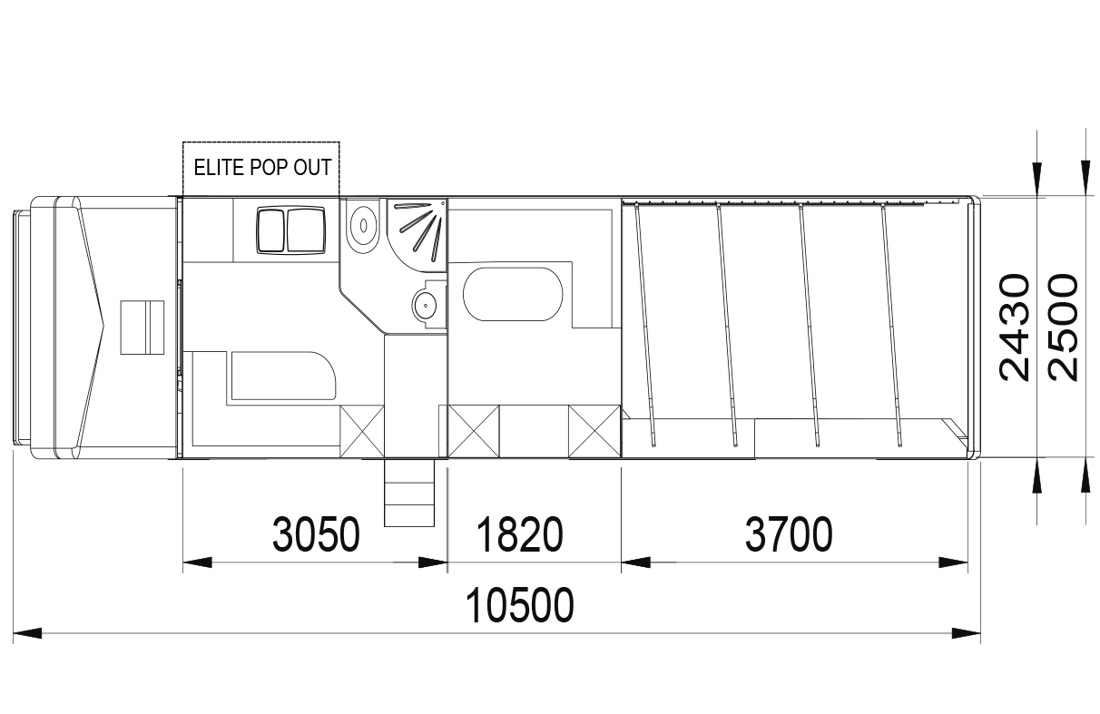 Explorer 3/4 stall with guest room